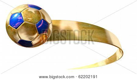 Gold Soccer Ball And Swoosh