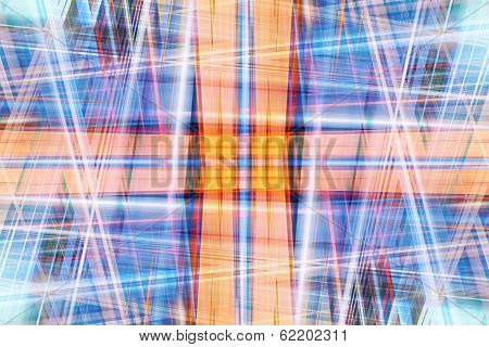 Abstract Crossing Light Beams