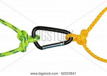 Two Butterfly Knots And Carabiner