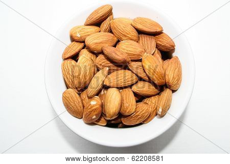 Almonds... a healthy snack.