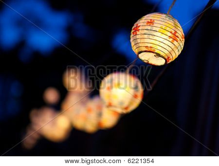 Small White Paper Lanterns