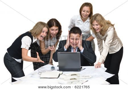 Business team surprised