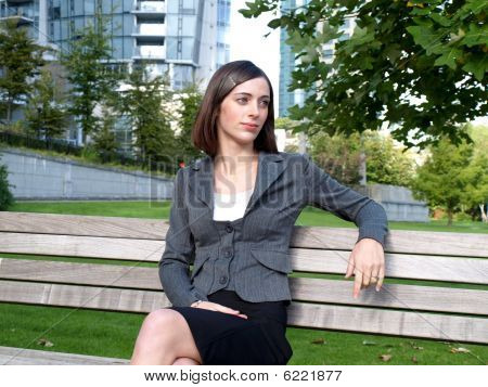 Attractive young woman in a business setting