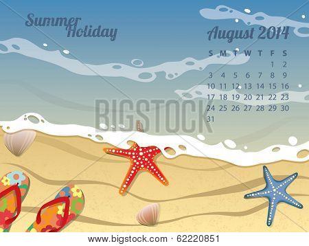 Beach Calendar for August 2014