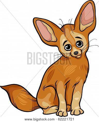 Fennec Fox Animal Cartoon Illustration