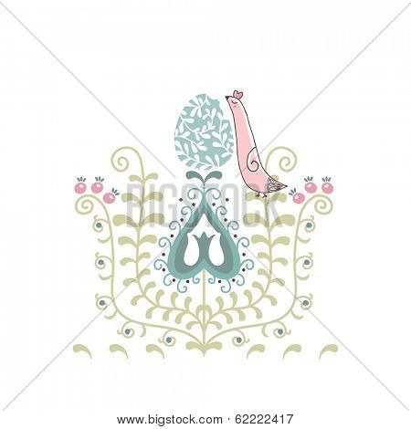 easter card with ethno motif