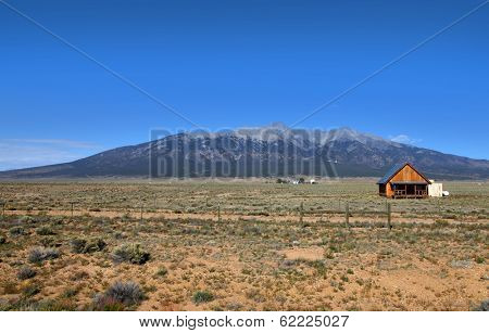 Prairie landscape in Colorado near Great sand dunes