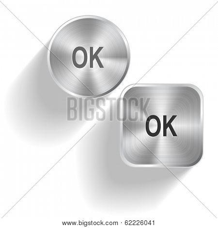 Ok. Vector set steel buttons