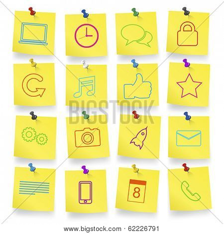 Computer Icons on Note Pad Vector