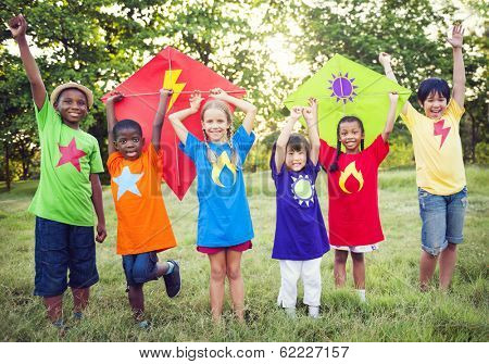 Children Playing Superheroes