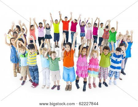 Group of Children Celebrating