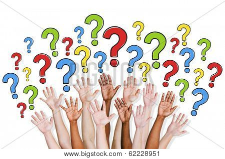 Diversity of Hands Raised and Question Marks