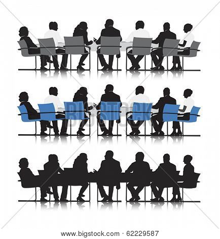 Vector of Business Meeting Tables