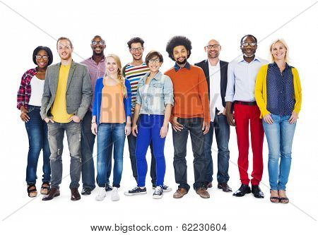 Group of Colorful Diverse People