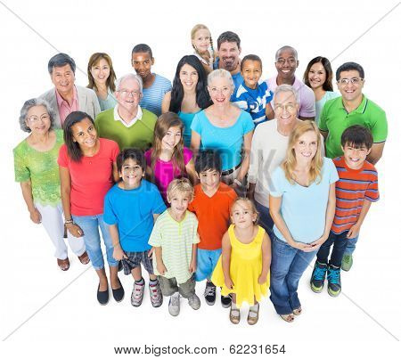Community with Diverse and Multi-ethnic People