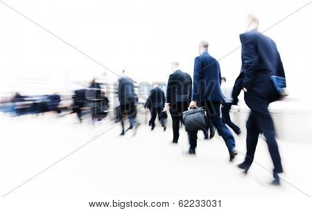 Commuters Rushing in London