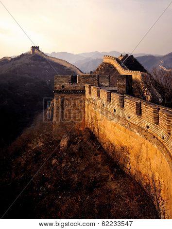 The Great Wall of China at Sunrise, Badaling, near Beijing