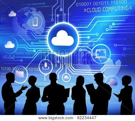 Vector of Cloud Computing System and Business People