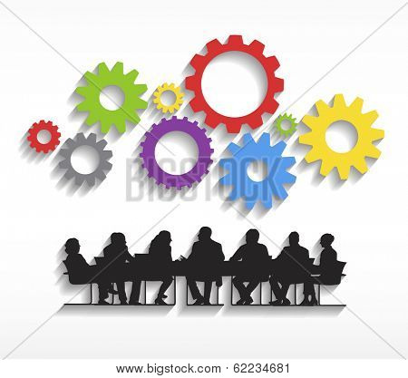 Vector of Business Meeting and Teamwork