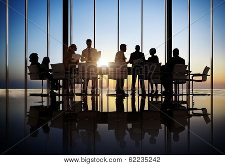 Business People Working In a Conference Room poster