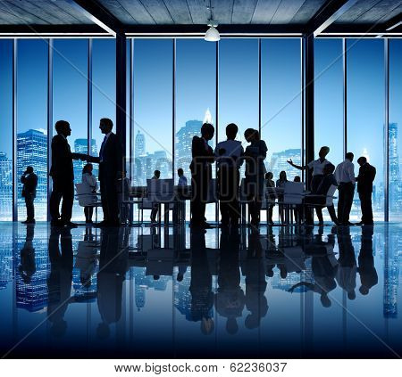 Business People Working in Conference Room in New York