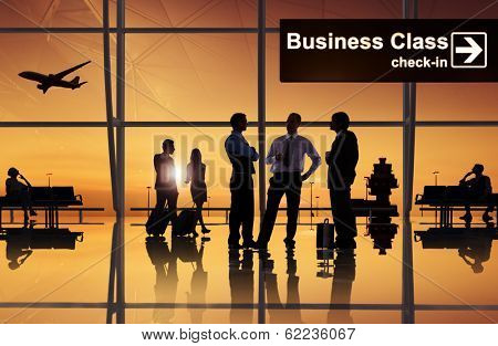 Group of Business People at Airport