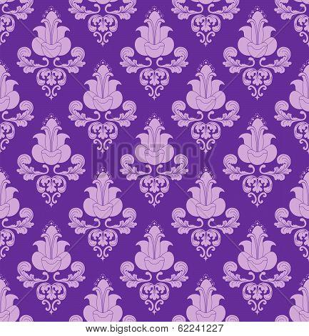 Violet Flowers On Violet Background