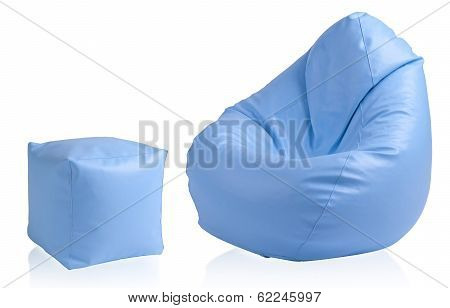 seat beanbag with stool