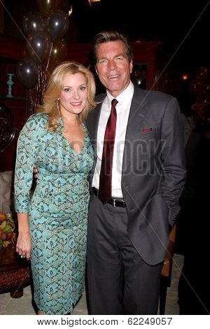 LOS ANGELES - MAR 25:  Cady McClain, Peter Bergman at the Young and Restless 41st Anniversary Cake at CBS Television City on March 25, 2014 in Los Angeles, CA