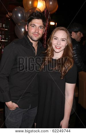LOS ANGELES - MAR 25:  Robert Adamson, Camryn Grimes at the Young and Restless 41st Anniversary Cake at CBS Television City on March 25, 2014 in Los Angeles, CA