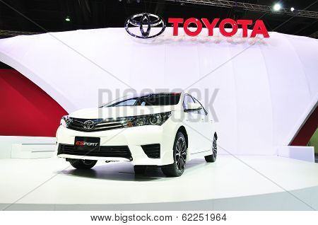 Nonthaburi - March 25: New Toyota Altis E-sport On Display At The 35Th Bangkok International Motor S