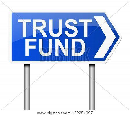 Trust Fund Concept.