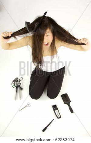 Having A Very Bad Hair Day