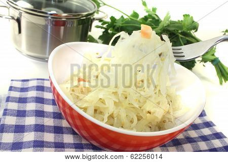 Fresh Sauerkraut On A Fork