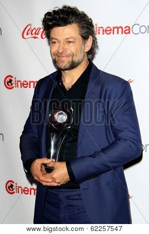 LOS ANGELES - MAR 27:  Andy Serkis at the  CinemaCon 2014 Awards Gala at Caesars Palace on March 27, 2014 in Las Vegas, NV