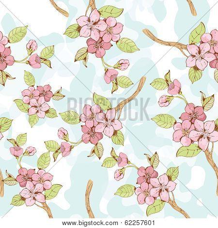 Sakura branch seamless pattern?