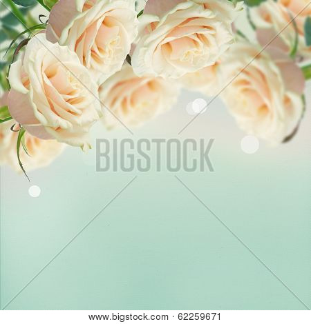 Postcard With Elegant  Flowers