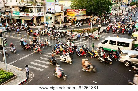 Transfer By Motorbike, Unsafe Situation, Viet Nam