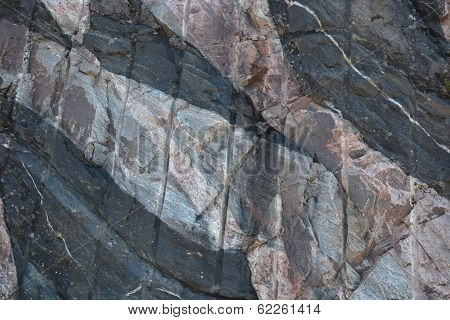 Manmade Intrusion into Rock