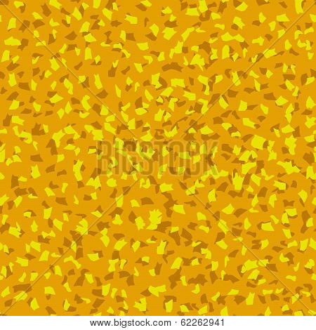 Seamless Ocher Crumb Pattern, Vector Background