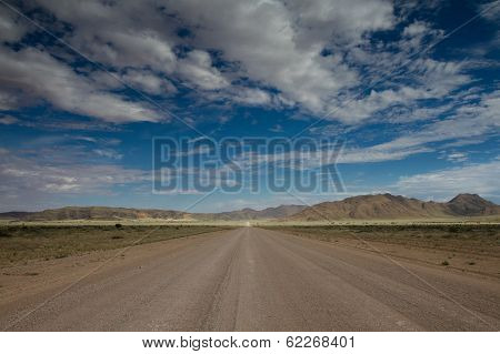 Endlss Gravel Road In The Naukluft Mountains