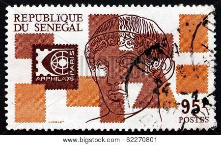 Postage Stamp Senegal 1975 Apollo Of Belvedere