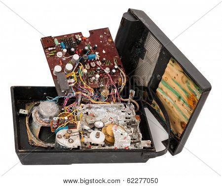 Broken tape-recorder