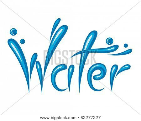illustration of water as text