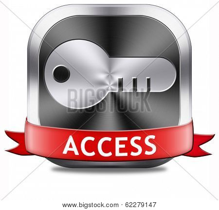 access button key icon password protected restricted area members only