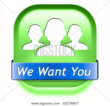 We want you sign. job search vacancy for jobs online job application help wanted hiring now job sign job button job ad advert advertising