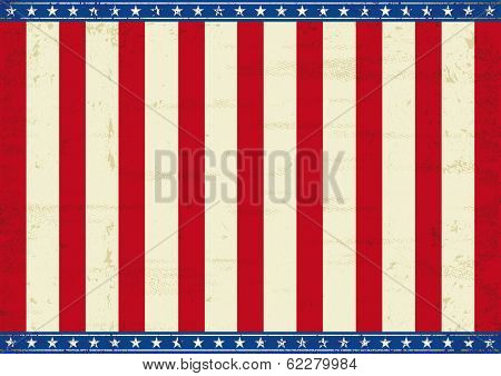 American theme background. An horizontal american poster for your message.