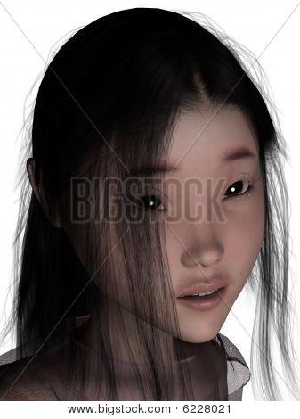 3D Female Human.