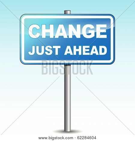 Vector Blue Change Signpost