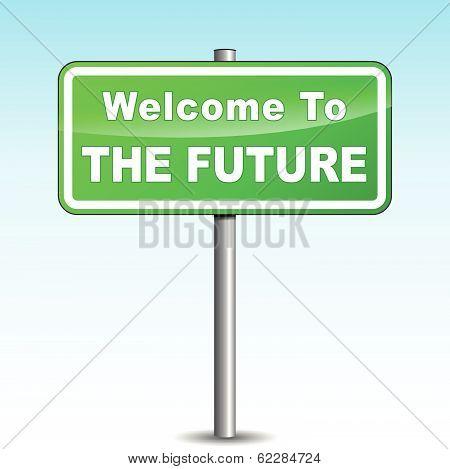 Vector Future Signpost